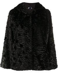 Liu Jo Manteau texturé à capuche - Noir