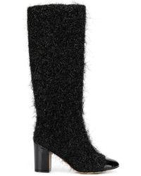 Rodo - Textured Patent Toe Cap Boots - Lyst