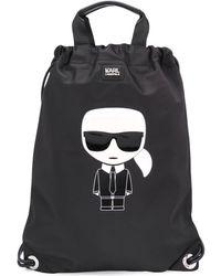 Karl Lagerfeld Ikonik Tote Bag - Black