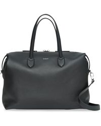 Burberry Grainy Leather Holdall - Black