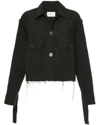 Song For The Mute - Wander Cropped Worker Jacket - Lyst