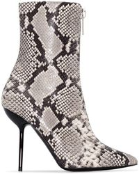 Unravel Project - 100mm Snake Print Ankle Boots - Lyst
