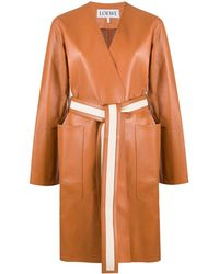 Loewe Пальто Без Застежки - Коричневый