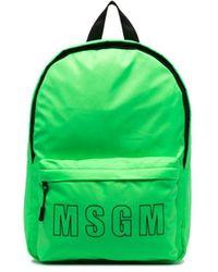 MSGM ロゴ バックパック - グリーン