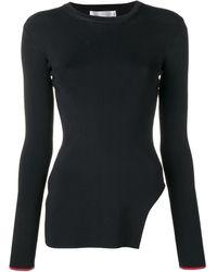Victoria Beckham サイドスリット セーター - ブラック