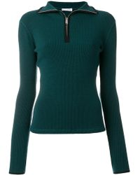 Paco Rabanne Front Zipped Sweater - Green