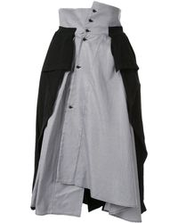 Aganovich ハウンドトゥース スカート - ブラック