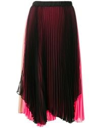 Loyd/Ford - Contrast Pleated Skirt - Lyst