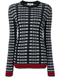 MSGM Свитер С Логотипом - Черный