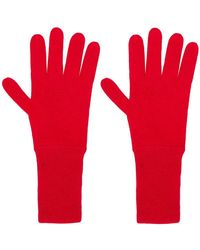 Allude Knit Gloves - Red