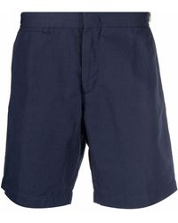 Orlebar Brown Buckle-detail Chino Shorts - Blue
