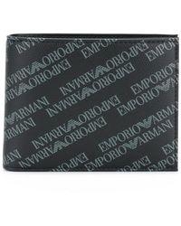 Emporio Armani - Bi-fold Logo Print Wallet - Lyst