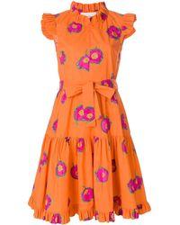LaDoubleJ Floral print ruffle dress - Giallo