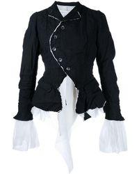 Renli Su Crinkled Single-breasted Jacket - Black