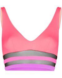 Agent Provocateur Zenaya V-neck Bikini Top - Pink