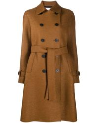 Harris Wharf London Double-breasted Trench Coat - Brown