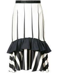 TOME | Striped Frill-trim Skirt | Lyst