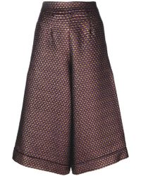 Ultrachic - Flared Cropped Trousers - Lyst