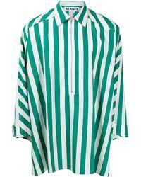 Sunnei Camicia a righe - Verde