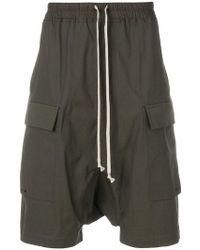 Rick Owens - Drop-crotch Cargo Shorts - Lyst