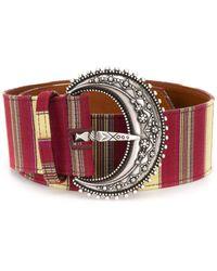 Etro Striped Buckle Belt - Red