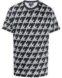 Les Hommes ロゴ Tシャツ - ブラック