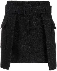 FEDERICA TOSI Minifalda a capas - Negro