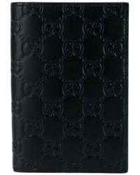 Gucci Kartenetui mit eingeprägtem Logo-Muster - Schwarz