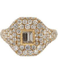 SHAY Кольцо Из Желтого Золота С Бриллиантами - Розовый