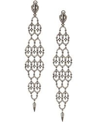 Loree Rodkin Pendientes estilo chandelier - Negro