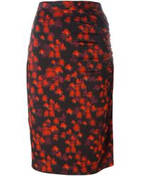 Givenchy - Abstract Print Skirt - Lyst