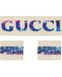 Gucci Комплект Из Повязки На Голову И Напульсников - Белый