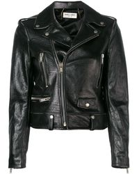 Saint Laurent Классическая Байкерская Куртка - Черный