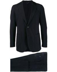 Tombolini Anzug mit Ziernaht - Blau