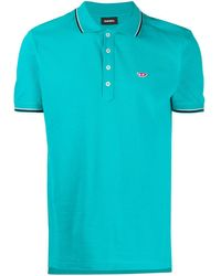 DIESEL ロゴ ポロシャツ - ブルー