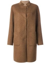 Manzoni 24 - Single Breasted Coat - Lyst