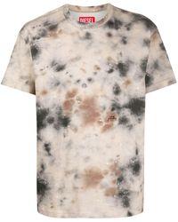 Diesel Red Tag Tie-dye T-shirt - Multicolour