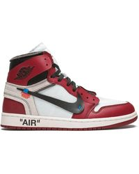 NIKE X OFF-WHITE Baskets The 10 : Air Jordan 1 - Rouge