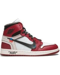 NIKE X OFF-WHITE X Off-white The 10: Air Jordan 1 Sneakers - Rood