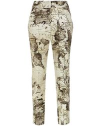 Andrea Marques - Map Print Skinny Trousers - Lyst
