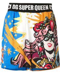 Dolce & Gabbana 'Super Queen' Shorts - Blau