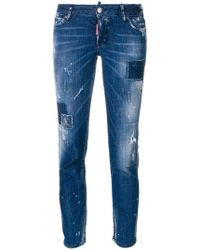 DSquared² - Jennifer Cropped Jeans - Lyst