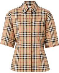 Burberry Рубашка В Клетку Vintage Check С Короткими Рукавами - Многоцветный