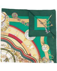Hermès 1990s Pre-owned La Ronde Des Heures Silk Scarf - Green