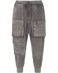 Dolce & Gabbana - Pantalones de chándal de pana con bolsillos cargo - Lyst