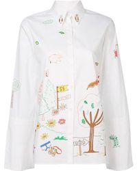 Mira Mikati Printed Shirt
