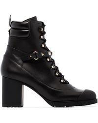 Valentino Garavani Rockstud 80mm Chunky Boots - ブラック