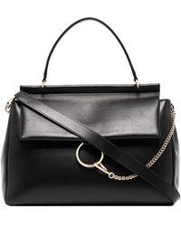 Chloé Faye Leather Shoulder Bag - ブラック