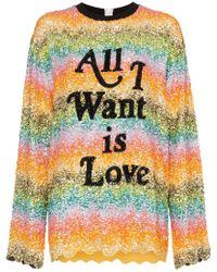 Ashish All I Want Is Love Sequin Embellished Sweatshirt - Multicolour