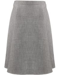 Ports 1961 A-line Flared Skirt - Gray